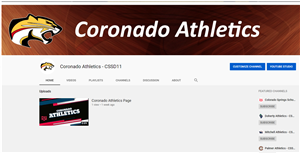 GO TO CORONADO ATHLETICS YOUTUBE PAGE